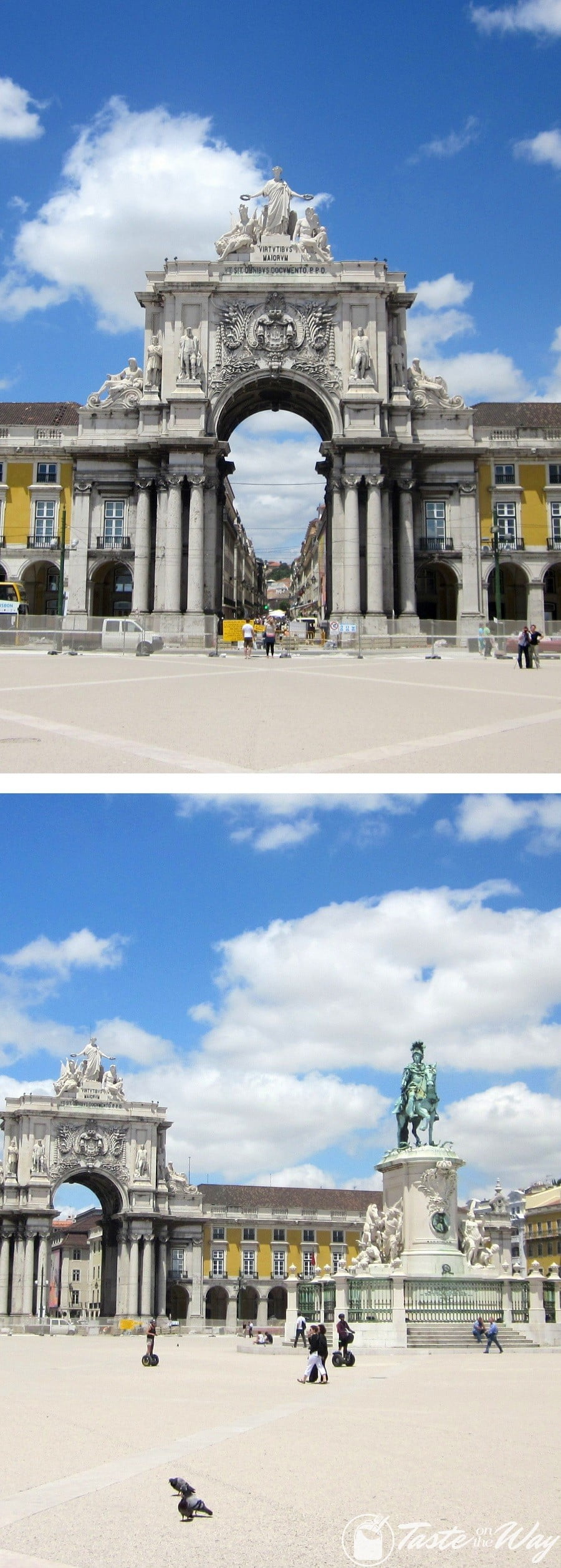 One of the top fun #thingstodo in #Lisbon, #Portugal is to have lunch at the Praca do Comercio Square. Check out for more! #travel #photography @tasteontheway