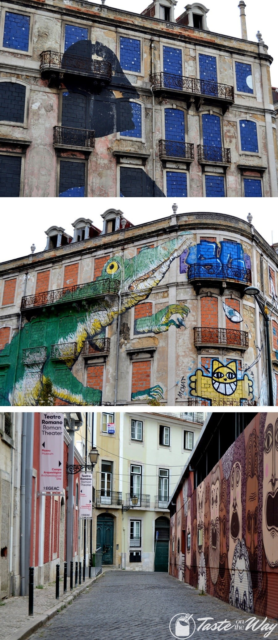 Top 15+ Best Things to Do in Lisbon, Portugal - One of the top fun #thingstodo in #Lisbon, #Portugal is find hidden street art. Check out for more! #travel #photography @tasteontheway