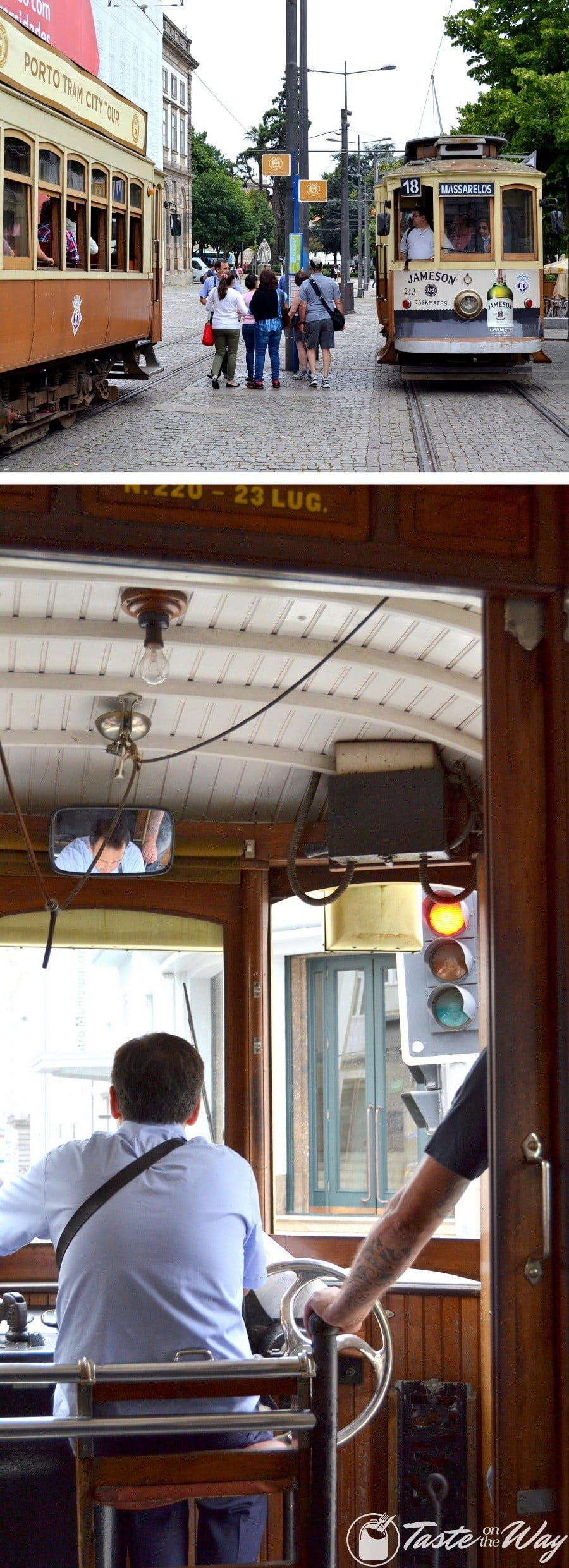 One of the top #thingstodo in #Porto, #Portugal is to ride the historical tram. Check out for more! #travel #photography @tasteontheway