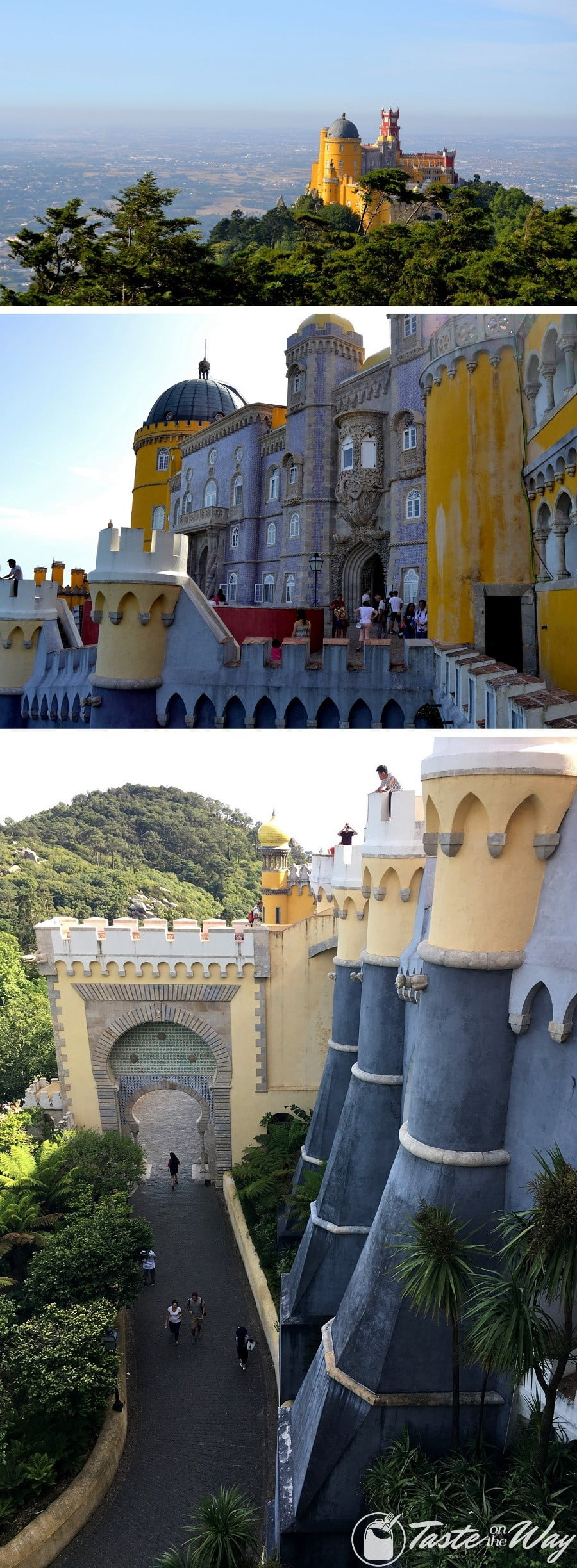 One of the top things to do on a #daytrip to #Sintra, #Portugal is to discover the fairy-tale-like Pena Palace. Check out for more! #travel #photography @tasteontheway