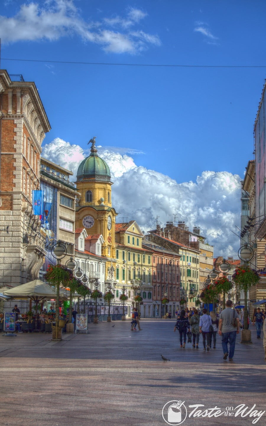 One of the top reason on why you should add #Rijeka to your #Croatia #itinerary is the postcard worthy Clock Tower. Check out for more! #travel #photography @tasteontheway