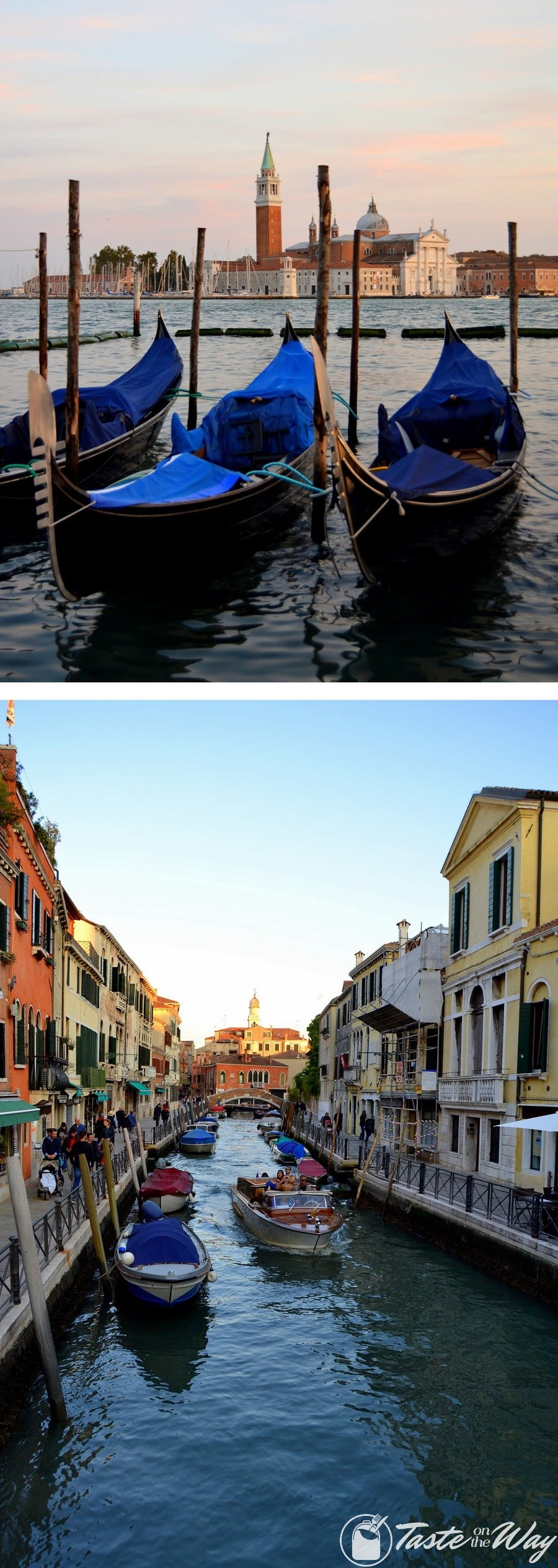 Check out these awesome pictures of gondolas and boats in #Venice #travel #photography @tasteontheway
