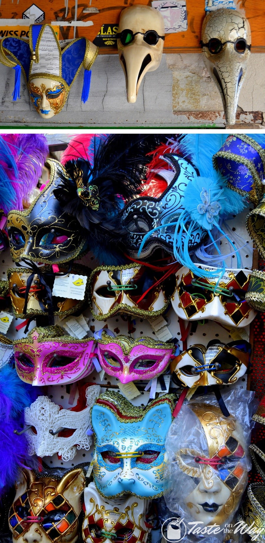 Check out these awesome pictures of mask shops in #Venice #travel #photography @tasteontheway