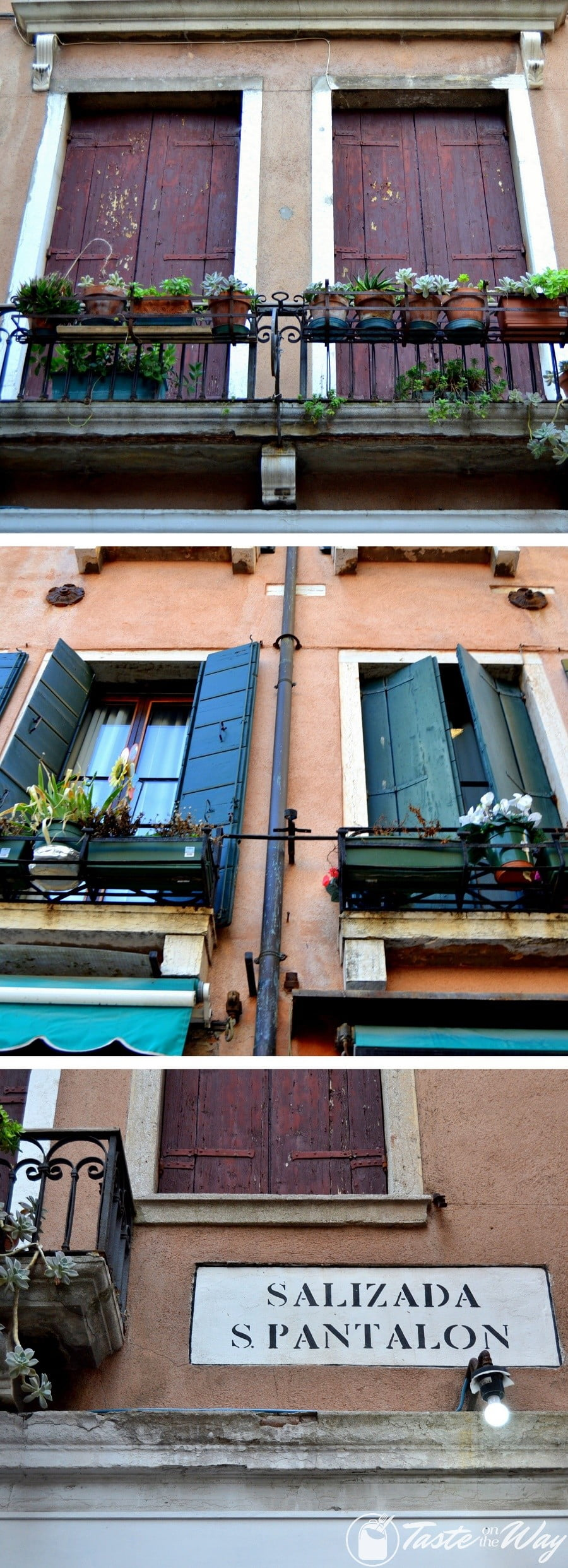 Check out these awesome pictures of colorful windows in #Venice #travel #photography @tasteontheway