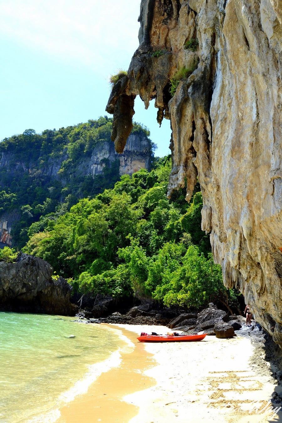 Kayaking to explore the coastline of Ao Nang #Krabi #Thailand #travel