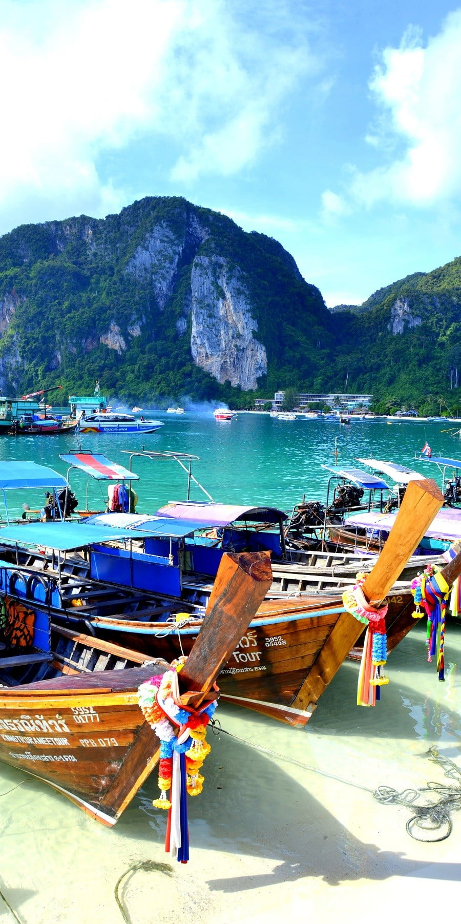 Boat dock in Phi Phi Island #Krabi #Thailand #travel