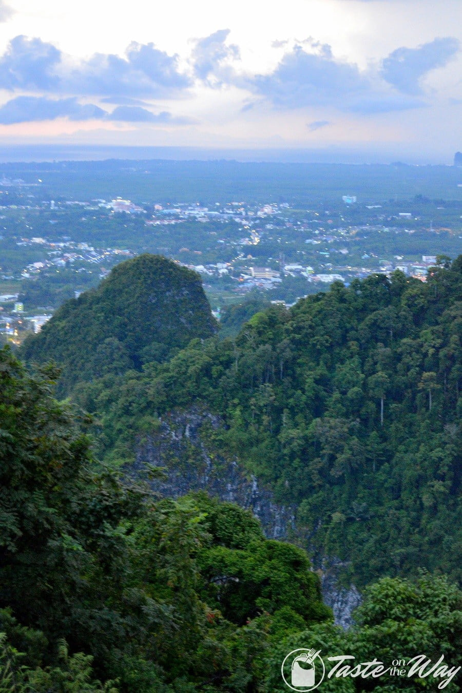 The view of Krabi from atop the Tiger Cave Temple mountain #Thailand #travel